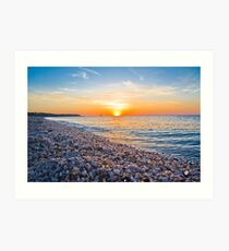 Rocks and Sky - Cedar Beach, Long Island, New York Art Print