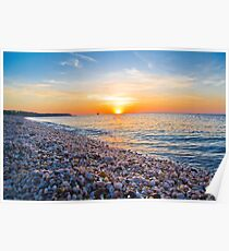 Rocks and Sky - Cedar Beach, Long Island, New York Poster
