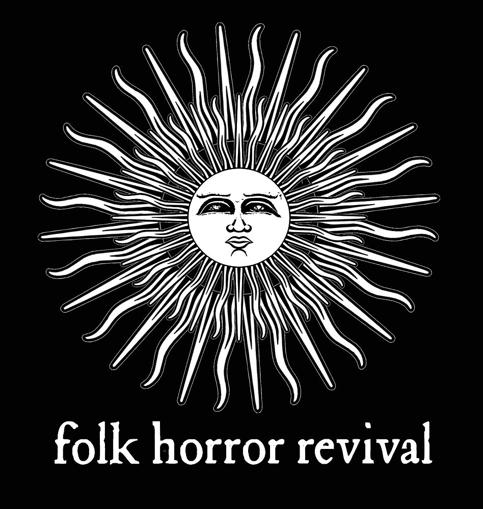 Folk Horror Revival logo original. white on black by Folk Horror  Revival
