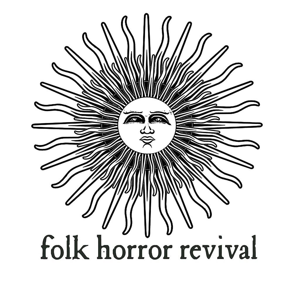 Folk Horror Revival logo original. black on white by Folk Horror  Revival