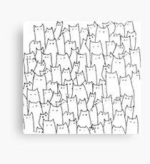 Cat cat cat cat Metal Print