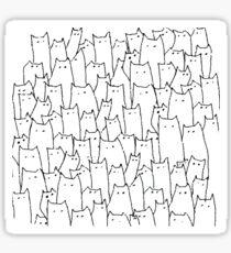 Cat cat cat cat Sticker