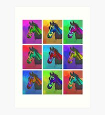 Equine Pop Art Art Print