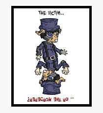 detective bottombee: the victim... or the murderer? (flip edition) Photographic Print
