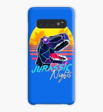 JURASSIC NIGHTS - Miami Vice Vapor Synthwave T-Rex Case/Skin for Samsung Galaxy