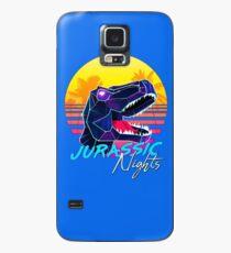 JURASSIC NIGHTS - Miami Vice Vapor Synthwave T-Rex Case/Skin for Samsung Galaxy