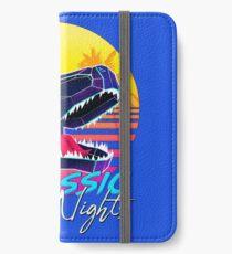 JURASSIC NIGHTS - Miami Vice Vapor Synthwave T-Rex iPhone Wallet/Case/Skin