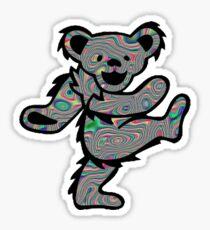 Grateful Dead Dancing Bear Psychedelic Trippy Sticker