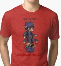 detective bottombee: the victim... or the murderer? (flip edition) Tri-blend T-Shirt