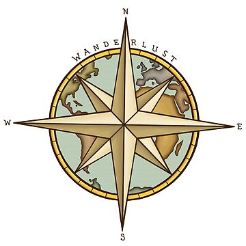 Wanderlust Compass & Map by rachels1689