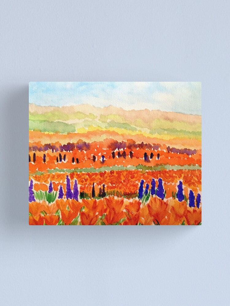 Alternate view of California Poppies Canvas Print