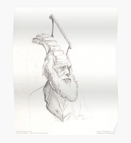 Darwin Took Steps - original sketch Poster