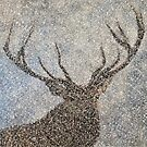 Stag in Heavy Snow by EuniceWilkie