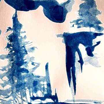 Watercolor Pine Tree  by imye