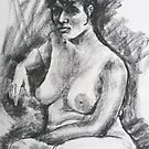 Regena - life study in charcoal by Mick Kupresanin