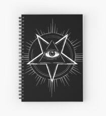 Illuminati Eye of Providence Pentagram Spiral Notebook