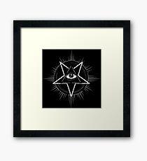 Illuminati Eye of Providence Pentagram Framed Print