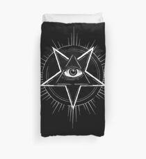 Illuminati Eye of Providence Pentagram Duvet Cover