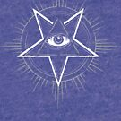 Illuminati Eye of Providence Pentagram by forge22