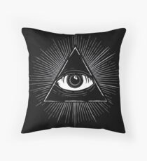 Illuminati Occult Pyramid Sigil Throw Pillow