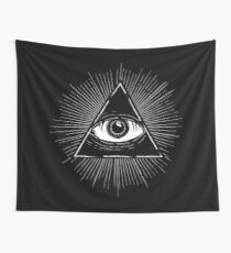 Illuminati Occult Pyramid Sigil Wall Tapestry