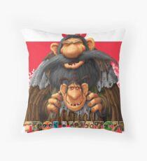 Bartek and Barta the Swamp Trolls Throw Pillow