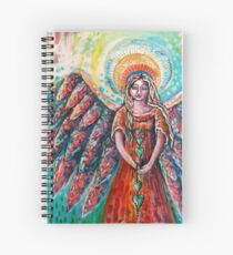 She is the gatherer of hearts Spiral Notebook