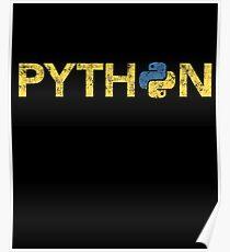 Python Programmer Retro Style  Poster