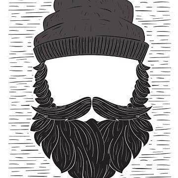 Hipster Bearded Lumberjack Face by JenBoyte
