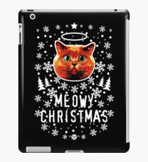 42 Red Cat Cat Holy Crazy Red MEOWY CHRISTMAS iPad Case/Skin