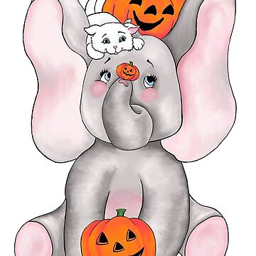 Elephants Love Pumpkins by redqueenself