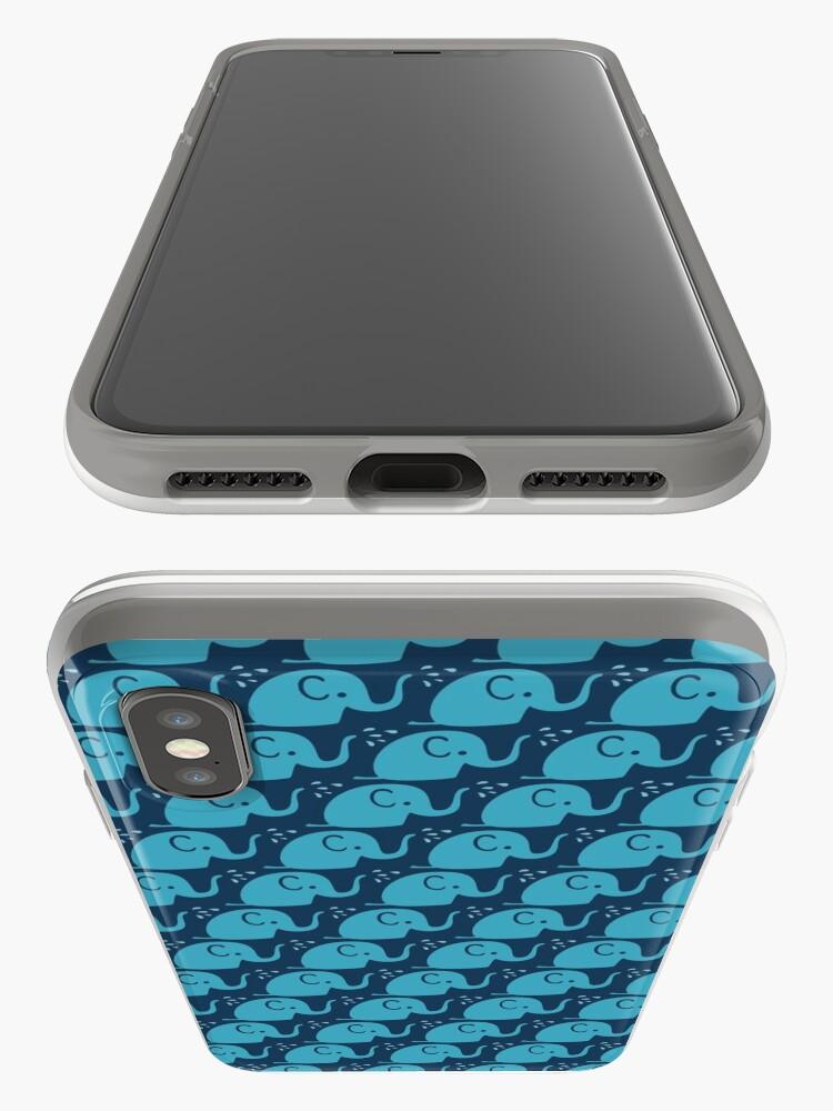 Alternative Ansicht von Azurblaue Elefanten Parade iPhone-Hülle & Cover