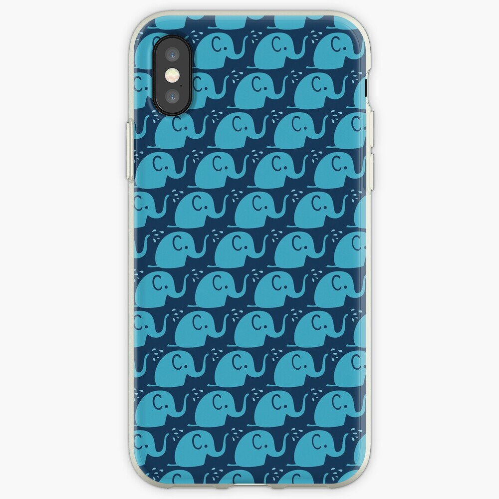 Azurblaue Elefanten Parade iPhone-Hülle & Cover