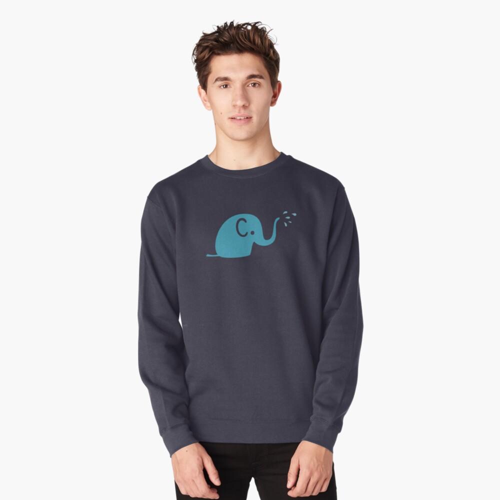 Azurblaue Elefanten Parade Pullover