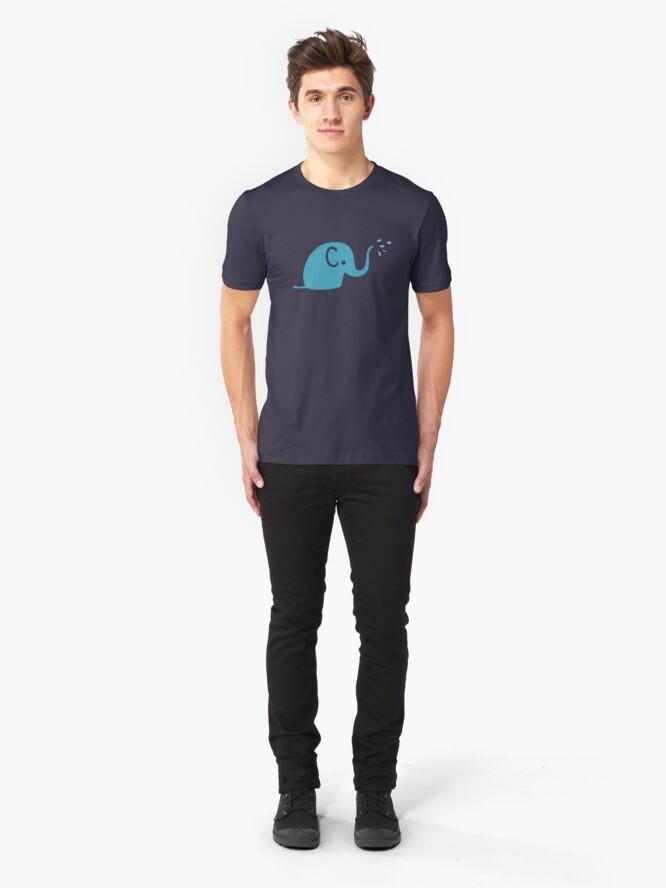 Alternative Ansicht von Azurblaue Elefanten Parade Slim Fit T-Shirt