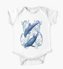 Peace and harmony .. a dolphins tale One Piece - Short Sleeve