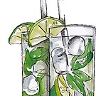 Mojito-Aquarell-Getränk von livpaigedesigns