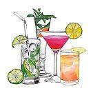 Alkohol trinkt Tapisserie von livpaigedesigns