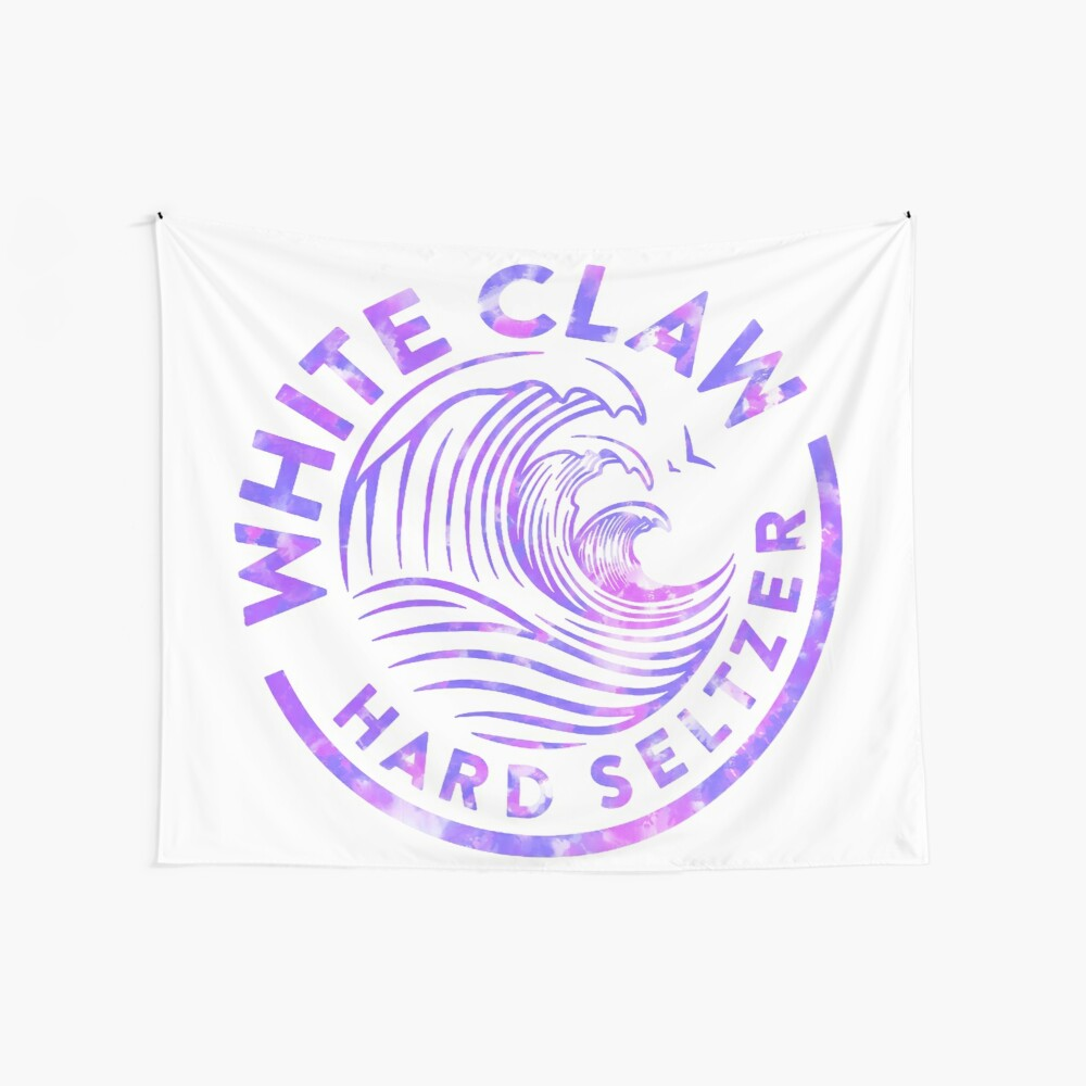 Purple Watercolor White Claw Tapestry Wall Tapestry
