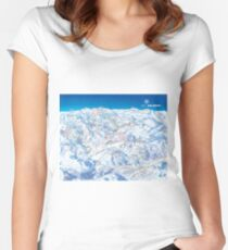 Ski Arlberg Ski Area Map (Old) Women's Fitted Scoop T-Shirt