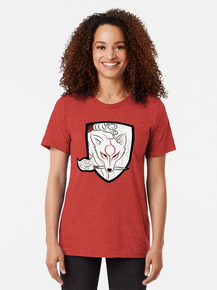 Alternate view of God Hound / Okami Tri-blend T-Shirt
