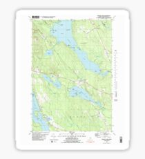 Maine USGS Historical Map Branch Lake 104954 1981 24000 Sticker