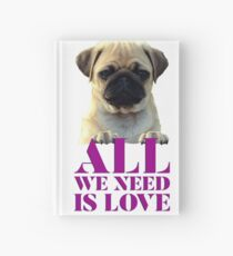 Cute Puppy Pug Love Collection Hardcover Journal