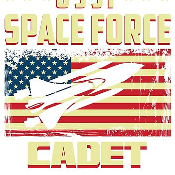 Space Force Cadet – Distorted Flag and shuttle  by kmpfanworks