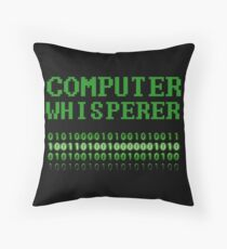 Computer Whisperer Funny IT Tech Support Sysadmin Throw Pillow