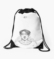 Boy and the Sun  Drawstring Bag