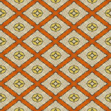 Polka Dot Orange Yellow Maize Geometric Print by EbethS