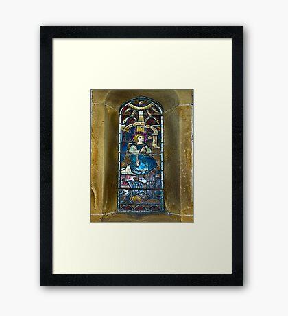 Window #4 - East Witton Church Framed Print
