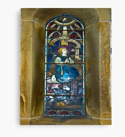 Window #4 - East Witton Church Canvas Print