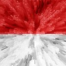 Extruded flag of Indonesia by Dr-Pen